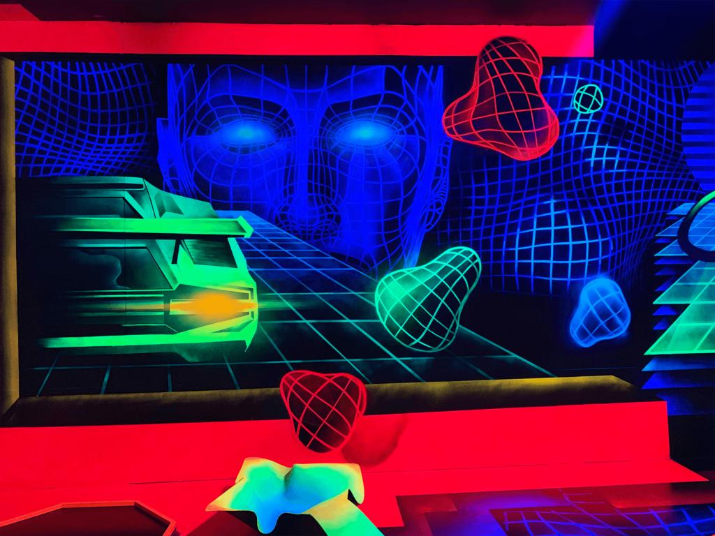 Schwarzlicht Future Wanddesign Auto
